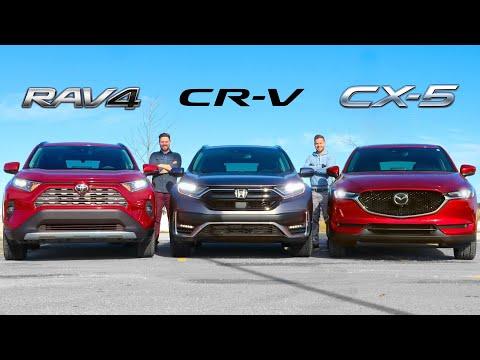 2020 Toyota RAV4 Vs Honda CR-V Vs Mazda CX-5 // Crossover Fight
