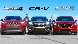 2020 Toyota RAV4 vs Honda CR-V vs Mazda CX-5 // Crossover Fight