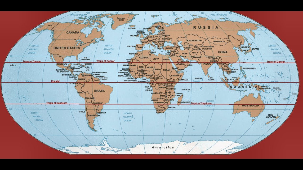 Trick To Remember Geography : Countries Through Which Tropic Of ...
