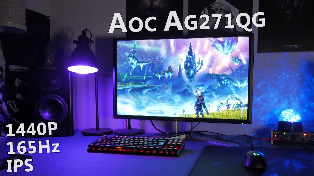 AOC AGON AG271QG Review - 1440p 165Hz Gaming Monitor with G-Sync and an IPS  Panel