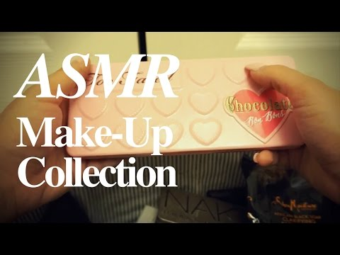 ASMR My [Updated] Make-Up Collection (Camera Mic) | Lily Whispers ASMR