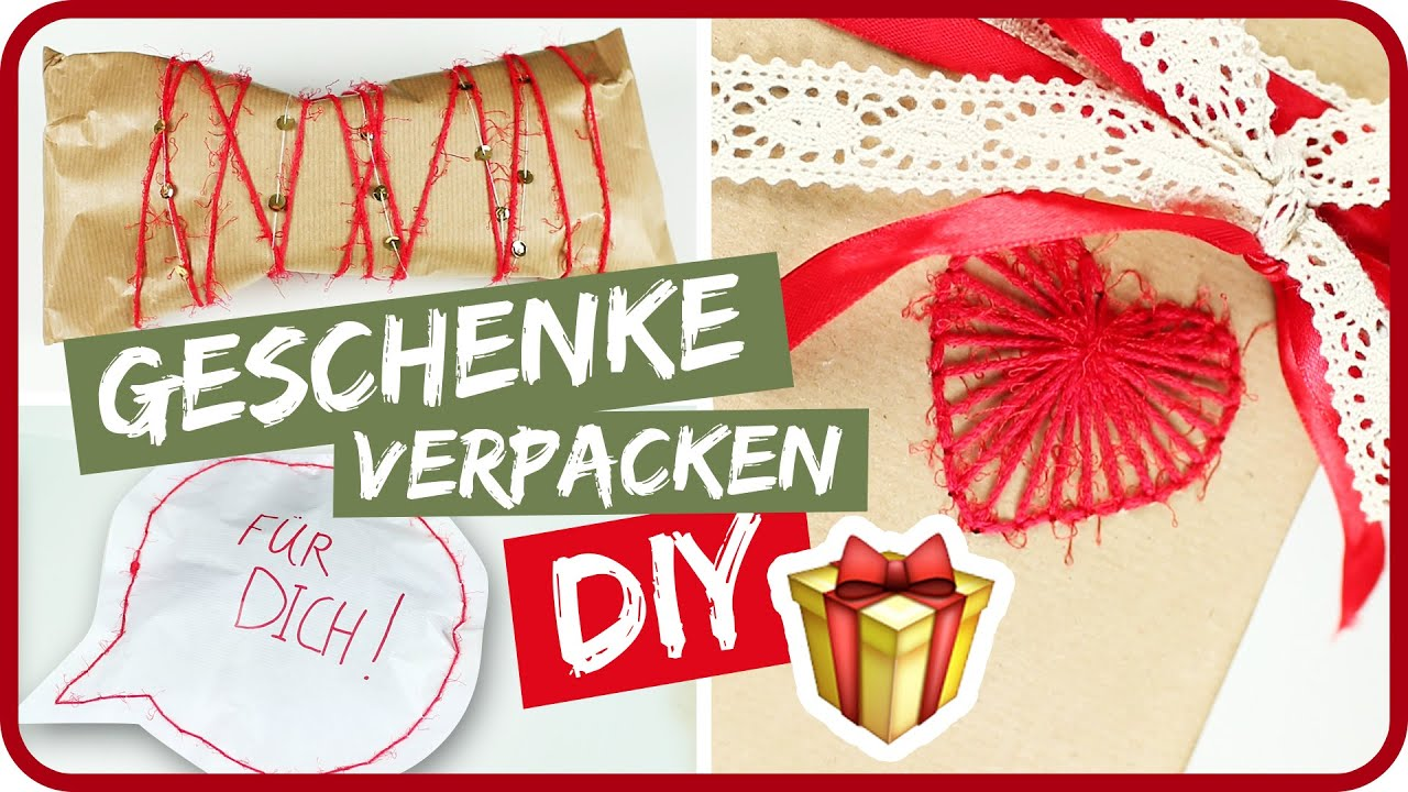 diy geschenke kreativ verpacken ii sissi youtube. Black Bedroom Furniture Sets. Home Design Ideas