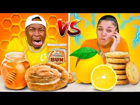 HONEY VS LEMON FOOD CHALLENGE