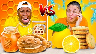 HONEY VS LEMON FOOD CHALLENGE