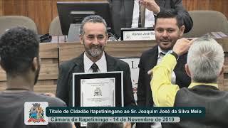 Sessão Solene - Sr. Joaquim José Carlos da Silva Melo - 2019