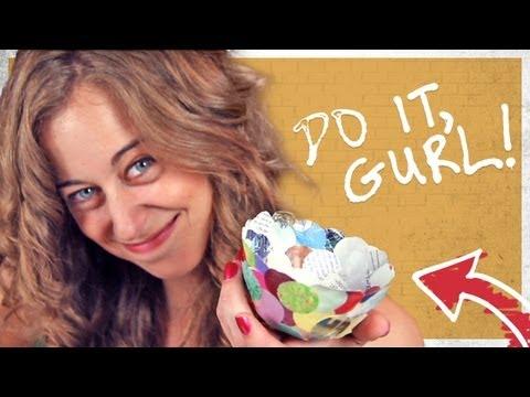 Paper Mache Craft Bowl - Do It, Gurl