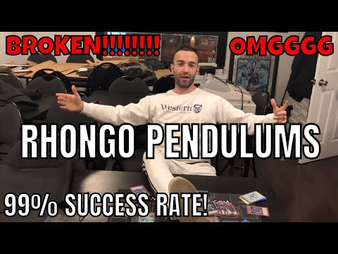 BROKEN!!! RHONGO PENDULUMS 99% SUCCESS RATE!!! UNSTOPPABLE DECK HOLYYYY WHAT A DECK MAN!! YUGIOH