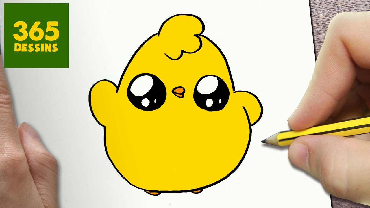 Comment Dessiner Poussin Kawaii étape Par étape Dessins Kawaii Facile