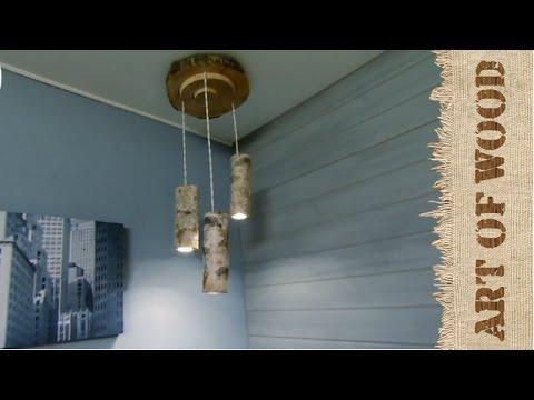 Como hacer lamparas techo en madera youtube - Lamparas de techo madera ...