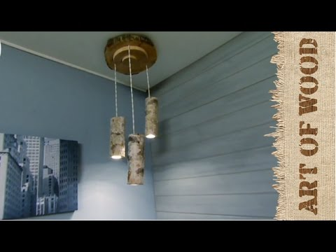Como hacer lamparas techo en madera youtube - Como hacer lamparas de techo artesanales ...