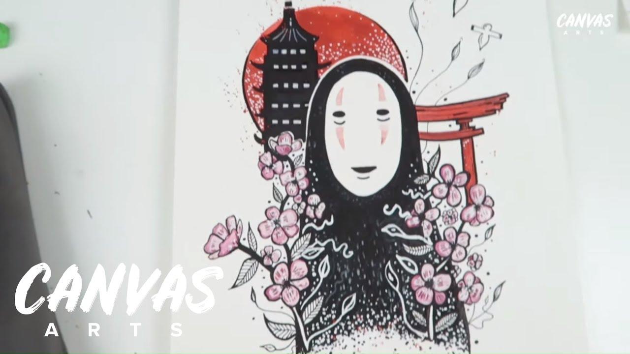 Spirited Away Watercolor Painting Tutorial Studio Ghibli Youtube