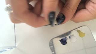 HOW TO: Simple Galaxy Nails by Hannah Powling