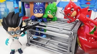 출동 파자마 삼총사 가짜와 진짜 슈퍼마켓 쇼핑 도둑을 찾아라 실바니안 장난감 놀이 - 토이몽 PJ Masks toys Find a supermarket shopping thief