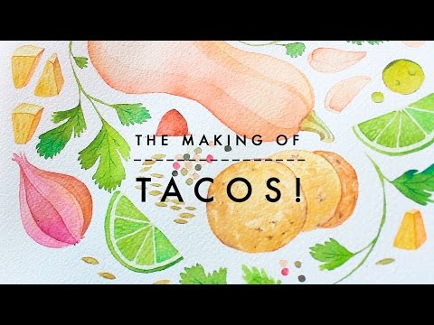 How to Watercolor x Tacos! | Food Illustration