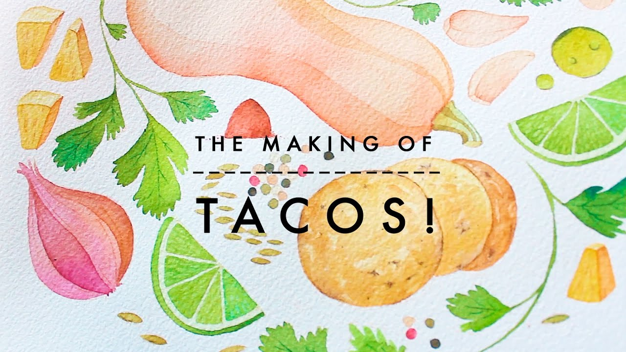 How to Watercolor x Tacos! | Food Illustration - YouTube