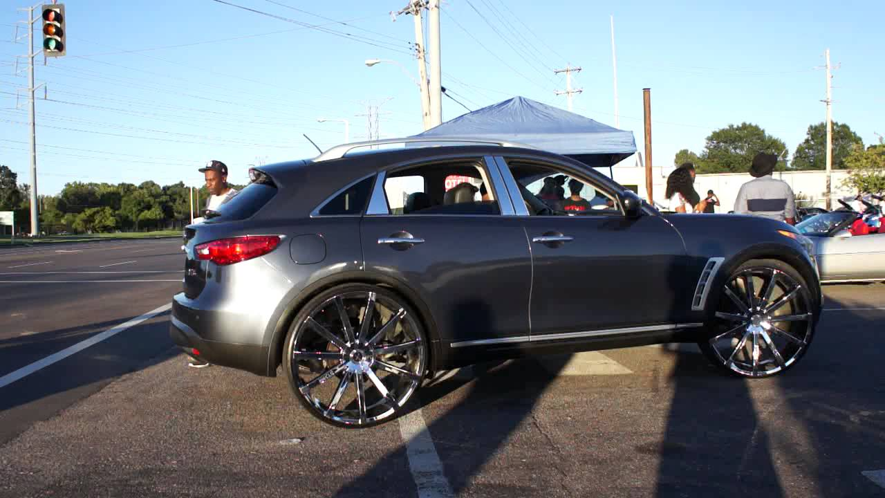 Wrapped Impala On Massiv Wheels And Infiniti On Starr