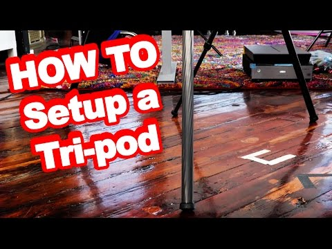 Tips For How To Setup Your Digital Camera On A Tripod: Tutorial