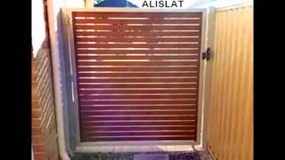 Alislat Wood Look Aluminium Slat Gates Perth W.a