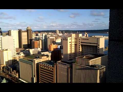 Awesome panoramic shot of Durban, South Africa