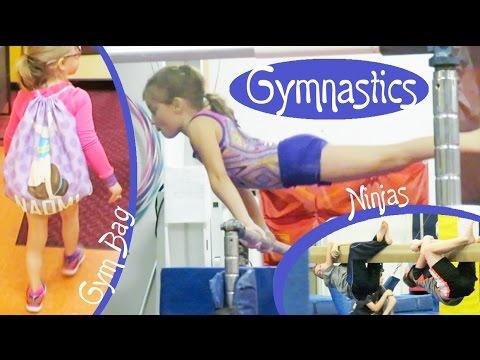 Gymnastics Lessons, Ninjas, and a Super Cute Gymnastics Bag!