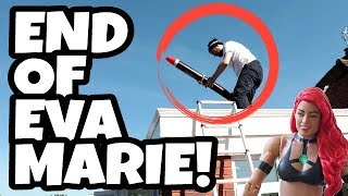 Getting Rid Of A WWE Wrestling Figure... BY USING A ROCKET!!!