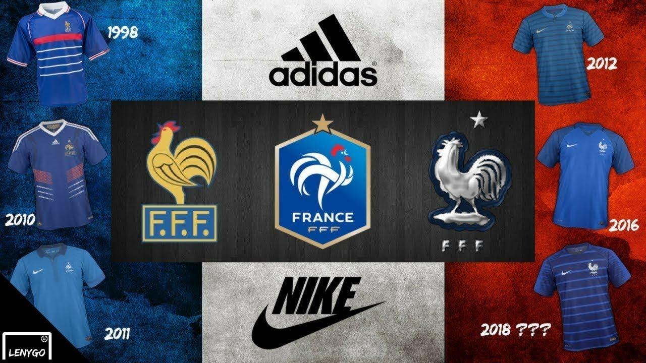 13 maillots de l 39 equipe de france de 1998 2018 youtube