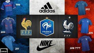 13 MAILLOTS DE L'EQUIPE DE FRANCE DE 1998 à 2018 !