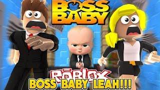 BOSS BABY TRAPS BABY LEAH NEL SUO UFFICIO!!! - Bambino Leah Roblox Obby