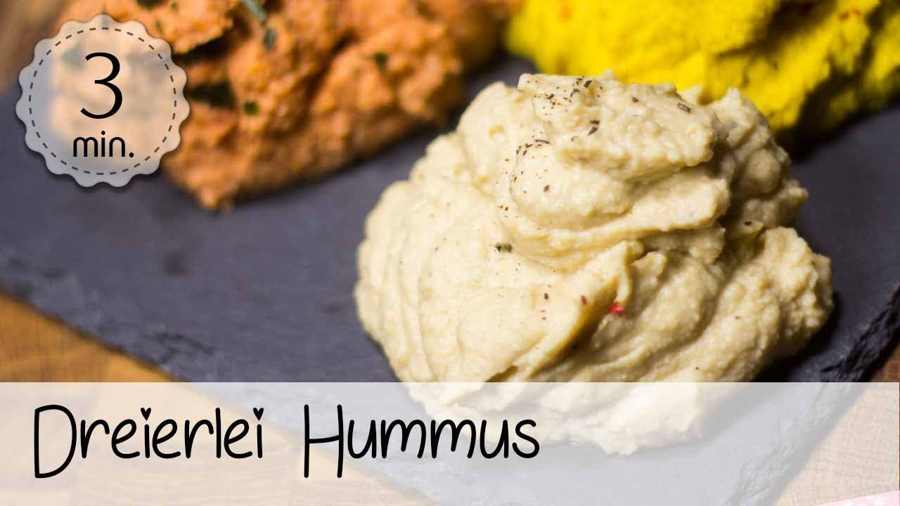 hummus rezept ohne l vegan hummus selber machen 3 einfache varianten youtube. Black Bedroom Furniture Sets. Home Design Ideas