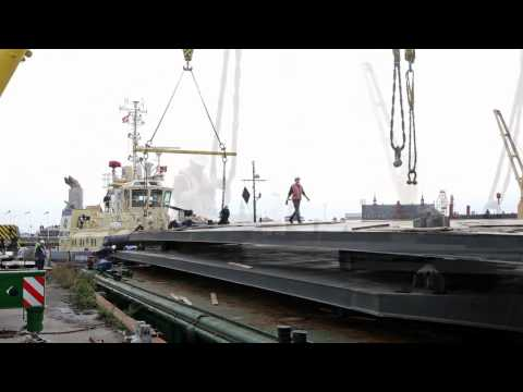 M/S Maritime Museum of Denmark opens June 2013. See the bridges arrive!