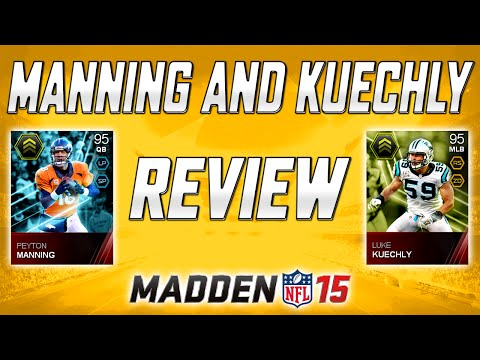 MUT 15 - Style Master - Peyton Manning & Luke Kuechly Review! | Madden 15 Ultimate Team