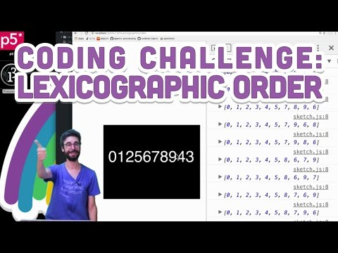Coding Challenge #35.2: Lexicographic Order
