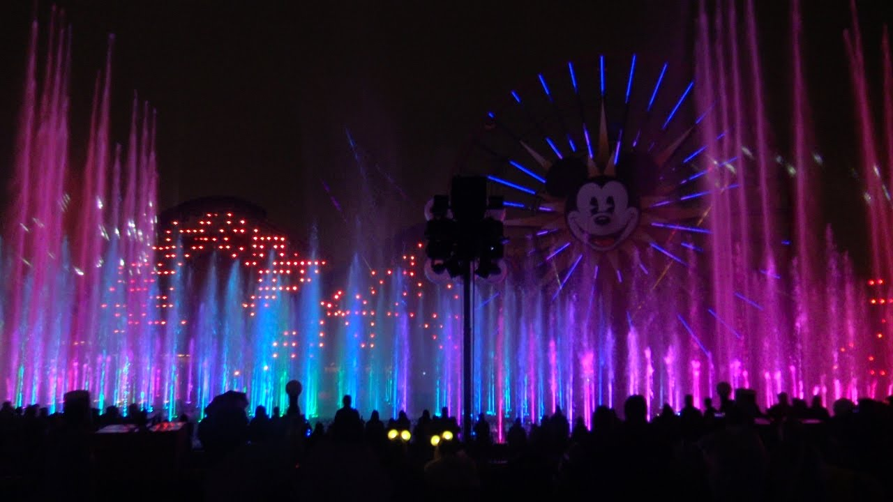 2017 World of Color in 4K ULTRA HD in 3D AUDIO, Disney California ...