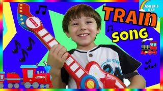 Rock N Roll Train Asher's Day |Train Song for Preschoolers & Babies| Virtual Train Ride