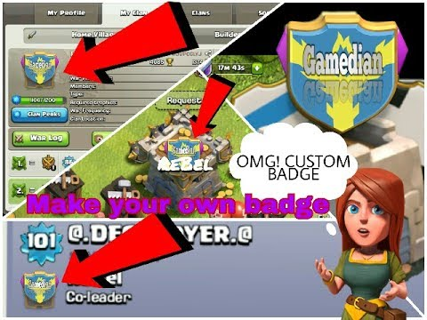 Create Your *OWN CUSTOM CLAN BADGE* In Clash Of Clans | Gamedian HINDI
