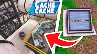 CACHE CACHE BUNKER SECRET !! (cache cache fortnite)