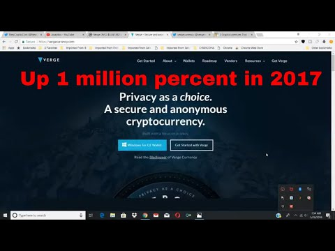 Verge up 1 million percent in 2017 will we ever see 1000X Crypto Returns again
