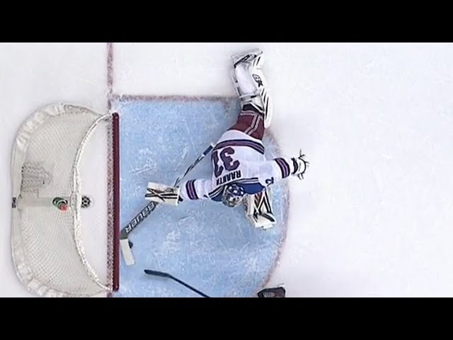 Raanta reaches back for spectacular paddle save