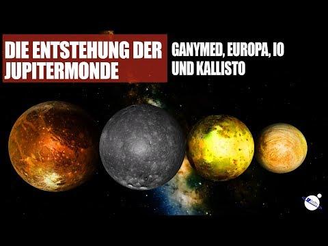 Die Entstehung der Jupitermonde Ganymed, Europa, Io und Kallisto