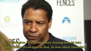 Fake-News:Denzel Washington attackiert schonungslos die Mainstream Medien
