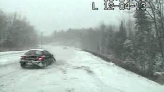 Video Near Miss With Car Going Off-Road download MP3, 3GP, MP4, WEBM, AVI, FLV Desember 2017