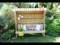 Free plans to build a Garden Seating Nook