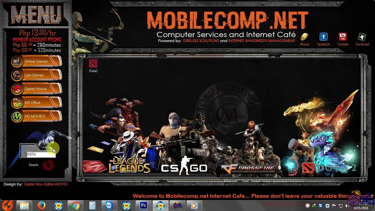 Mobilecompnet Internet Cafe Game Menu Design YouTube - Game menu design