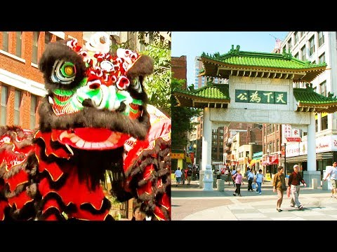 2017 Lion Dance Performance Rose Kennedy Greenway Chinatown - Boston Main Street Stage Event 舞獅