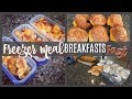 MAKE FREEZER MEALS WITH ME | 3 BREAKFAST RECIPES