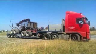 AXELBAZ - Transport ponadgabarytowy maszyn leśnych