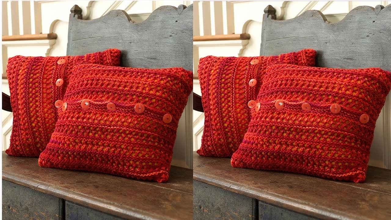 Cojines fundas tejidos a crochet n 05 youtube for Almohadones para sillones