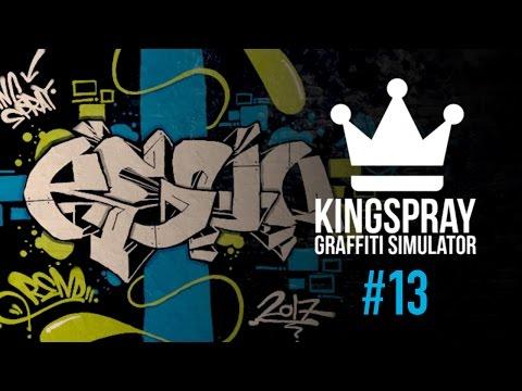 Kingspray Graffiti Simulator ] EP13: Painting a sharp green and blue