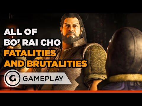 All of Bo' Rai Cho's Fatalities & Brutalities - Mortal Kombat XL Gameplay