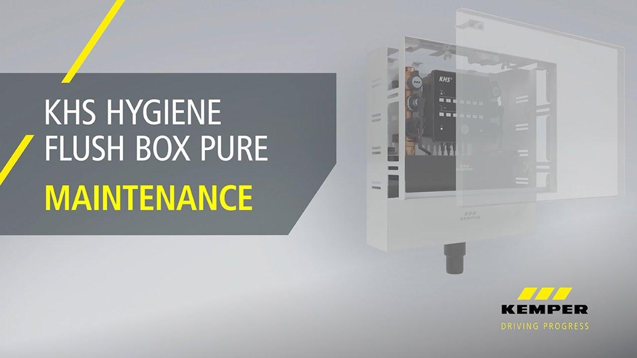 Youtube Video: Maintenance KHS Hygiene Flush Box PURE